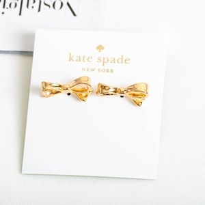 Kate Spade Love Notes Bow Earrings gold